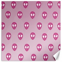 Alien Pattern Pink Canvas 12  X 12   by BangZart