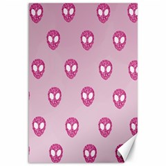 Alien Pattern Pink Canvas 12  X 18