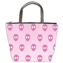 Alien Pattern Pink Bucket Bags