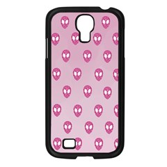 Alien Pattern Pink Samsung Galaxy S4 I9500/ I9505 Case (black) by BangZart