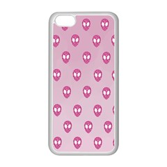 Alien Pattern Pink Apple Iphone 5c Seamless Case (white)