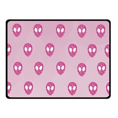 Alien Pattern Pink Double Sided Fleece Blanket (small)