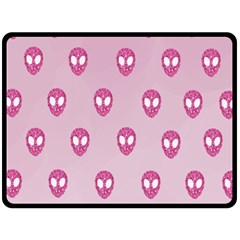 Alien Pattern Pink Double Sided Fleece Blanket (large)  by BangZart