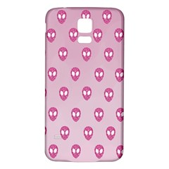 Alien Pattern Pink Samsung Galaxy S5 Back Case (white)