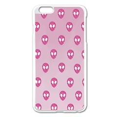 Alien Pattern Pink Apple Iphone 6 Plus/6s Plus Enamel White Case