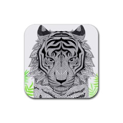 Tiger Head Rubber Coaster (square)