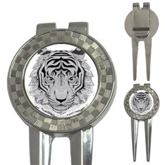 Tiger Head 3 In 1 Golf Divots by BangZart
