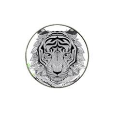 Tiger Head Hat Clip Ball Marker (10 Pack)