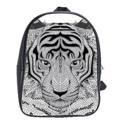 Tiger Head School Bags(large)  by BangZart