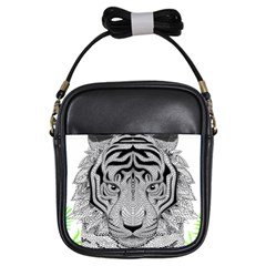Tiger Head Girls Sling Bags
