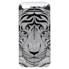 Tiger Head Apple Iphone 5 Hardshell Case by BangZart