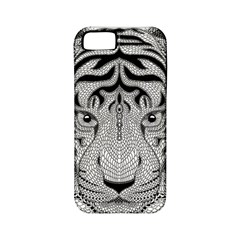 Tiger Head Apple Iphone 5 Classic Hardshell Case (pc+silicone)