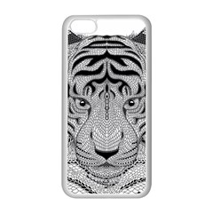 Tiger Head Apple Iphone 5c Seamless Case (white)