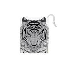 Tiger Head Drawstring Pouches (xs)
