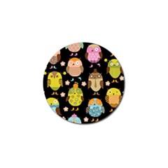 Cute Owls Pattern Golf Ball Marker (4 Pack)