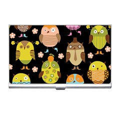 Cute Owls Pattern Business Card Holders