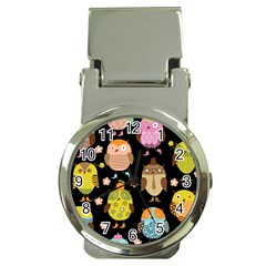 Cute Owls Pattern Money Clip Watches by BangZart