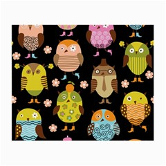 Cute Owls Pattern Small Glasses Cloth (2 Side)