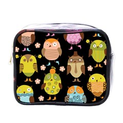 Cute Owls Pattern Mini Toiletries Bags