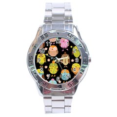 Cute Owls Pattern Stainless Steel Analogue Watch by BangZart
