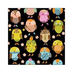 Cute Owls Pattern Acrylic Tangram Puzzle (6  X 6 )