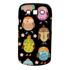 Cute Owls Pattern Samsung Galaxy S Iii Classic Hardshell Case (pc+silicone)