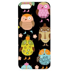Cute Owls Pattern Apple Iphone 5 Hardshell Case With Stand by BangZart