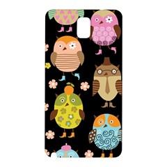 Cute Owls Pattern Samsung Galaxy Note 3 N9005 Hardshell Back Case