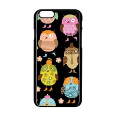 Cute Owls Pattern Apple Iphone 6/6s Black Enamel Case by BangZart