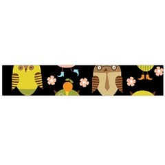 Cute Owls Pattern Flano Scarf (large)