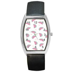 Watermelon Wallpapers  Creative Illustration And Patterns Barrel Style Metal Watch