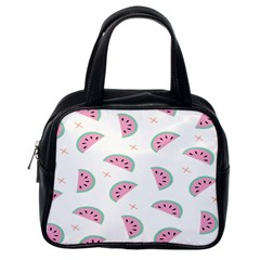 Watermelon Wallpapers  Creative Illustration And Patterns Classic Handbags (one Side)