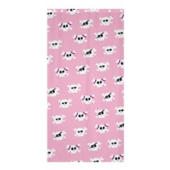Girly Girlie Punk Skull Shower Curtain 36  X 72  (stall)  by BangZart