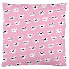 Girly Girlie Punk Skull Large Cushion Case (two Sides)