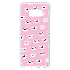 Girly Girlie Punk Skull Samsung Galaxy S8 Plus White Seamless Case