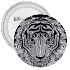 Tiger Head 3  Buttons