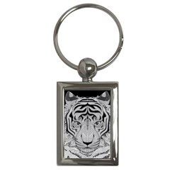 Tiger Head Key Chains (rectangle)  by BangZart