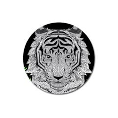 Tiger Head Magnet 3  (round) by BangZart