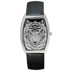 Tiger Head Barrel Style Metal Watch