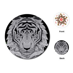 Tiger Head Playing Cards (round)