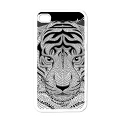 Tiger Head Apple Iphone 4 Case (white)