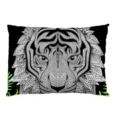 Tiger Head Pillow Case (two Sides)