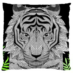Tiger Head Large Cushion Case (one Side)