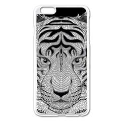 Tiger Head Apple Iphone 6 Plus/6s Plus Enamel White Case by BangZart