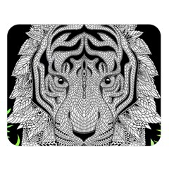 Tiger Head Double Sided Flano Blanket (large)  by BangZart