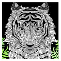 Tiger Head Large Satin Scarf (square)
