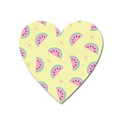 Watermelon Wallpapers  Creative Illustration And Patterns Heart Magnet by BangZart