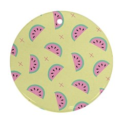 Watermelon Wallpapers  Creative Illustration And Patterns Round Ornament (two Sides)