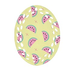 Watermelon Wallpapers  Creative Illustration And Patterns Ornament (oval Filigree)