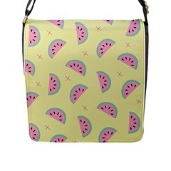Watermelon Wallpapers  Creative Illustration And Patterns Flap Messenger Bag (l)